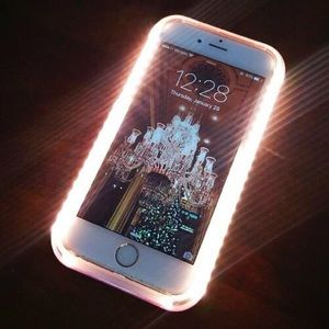 White Selfie Light-Up iPhone case